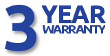 3 Year warranty star