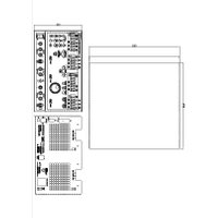 QL Series Triple Output Power Supplies mechanical drawing