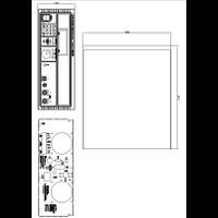 QPX1200 Power Supplies Mechanical Drawing