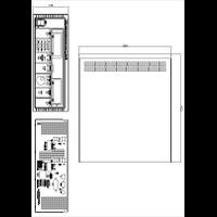 QPX600 Power Supplies Mechanical Drawing