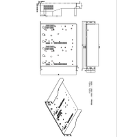 RM200A Rack Mount Kit Mechanical Drawing