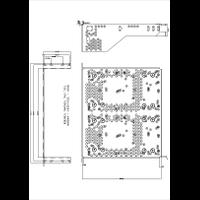 RM300 Rack Mount Kit Mechanical Drawing