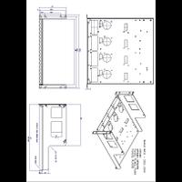 RM460 Rack Mount Kit Mechanical Drawing