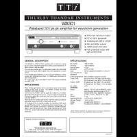 WA301 waveform amplifier datasheet