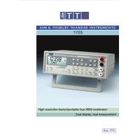 1705 multimeter datasheet