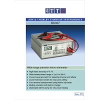 BS407 precision micro-ohmmeter datasheet