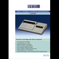 LCR400 LCR meter datasheet