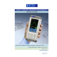 PSA Series 2 spectrum analyzers datasheet