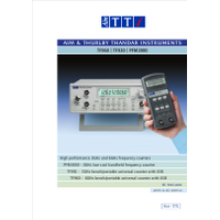 TF900 and PFM3000 series frequency counters datasheet
