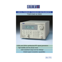 TGR1040 and TGR2050 RF signal generators datasheet