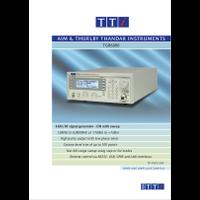 TGR6000 RF signal generator datasheet