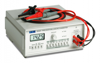 Aim-TTi BS407 micro-ohmmeter with clips