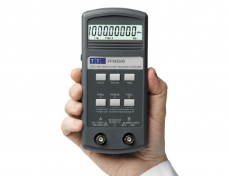 Aim-TTi PFM3000 handheld frequency counter - hand held